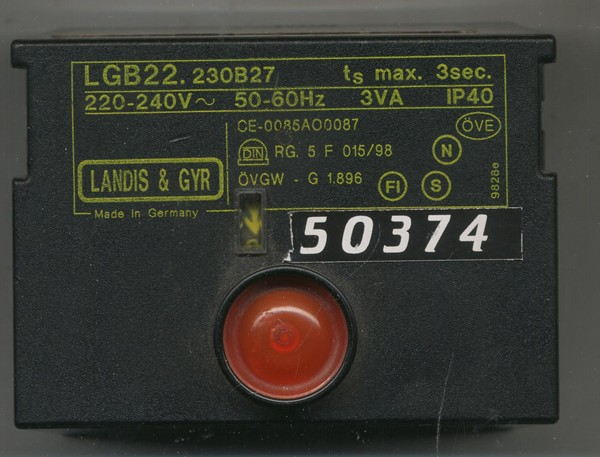 BURNER SEQUENCE CONTROLLERS MODEL NO:LGB22.230B7 S