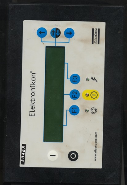 electronikon atlas copco by elektronikon repair at synchronics mini plc panel sr no 31100423117