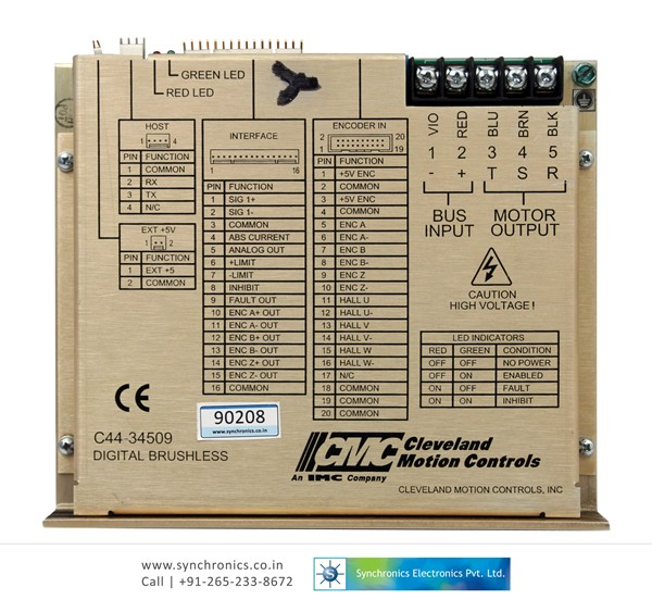 Repair Cleveland Motion Controls Instruments Repairing Of. Digital Brushless Servo Drive C44 34509 Sma9115 95. Wiring. Pacemaster Dc Drive Wiring Diagram At Scoala.co