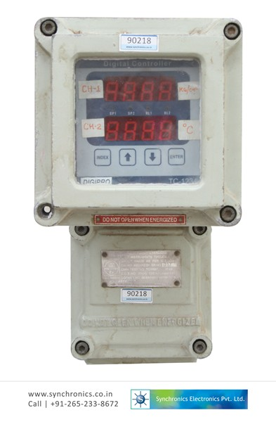 Digital Indicator Parts : Flame proof digital indicator dual channel by actuasys