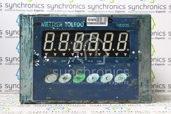 ind weighing indicator by mettler toledo repair at synchronics ind225 weighing indicator